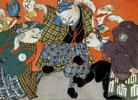 Кошки-оборотни бакэнэко и нэкомата