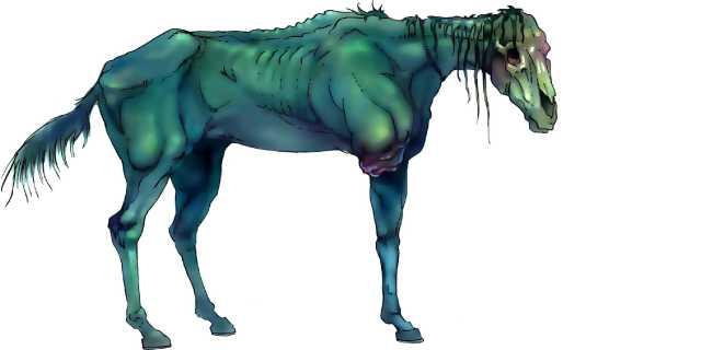 Конь Хельхест — воплощение смерти