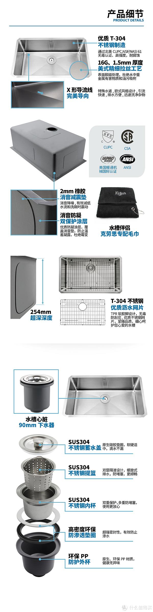 ebay kitchen sinks unique accessories 装修剁手剁不停 美国kraus 克劳思单盆厨房水槽 什么值得买