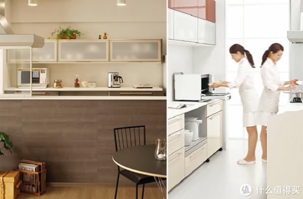 kitchen aid cabinets clogged drain 厨房家电器具多而杂 周边收纳要做好 厨房收纳设计原则了解下 什么值得买 二 柜 台面 并排运用电器 辅助烹饪