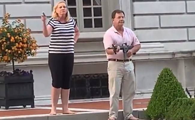 Patricia And Mark Mccloskey Charged For Pointing Guns At
