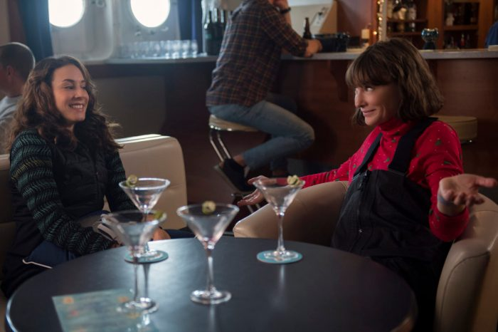 troian bellisario and cate blanchett in where'd you go bernadette