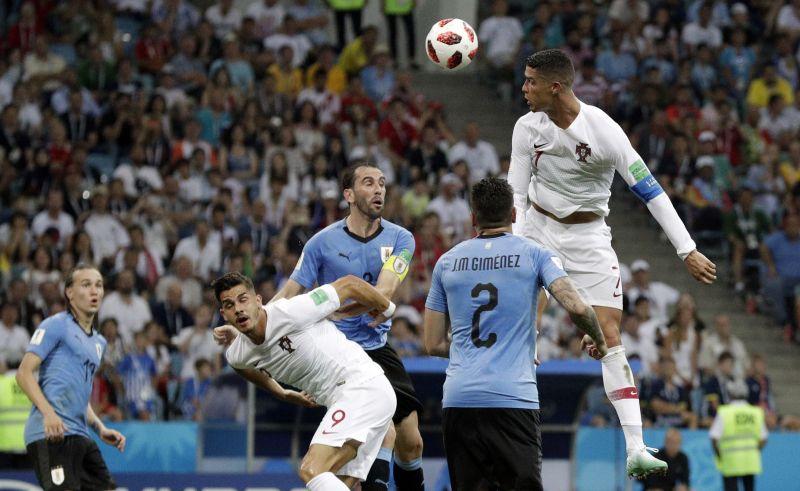 Cavani Scores Twice Uruguay Ousts Ronaldo And Portugal 2