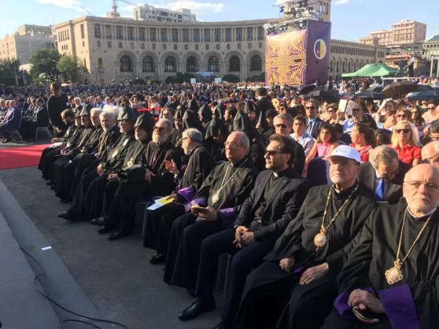 At Republic Square in Yerevan