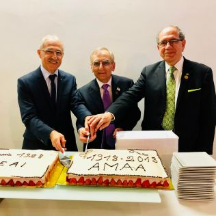 Cutting Anniversary Cakes