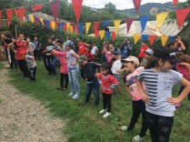 Exercise time for the VBS children in Berd
