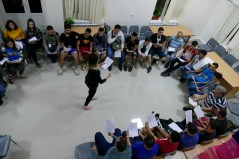 Armenian-speaking or not, the youth learned to sing some Armenian songs together (7 Aug. 2018)