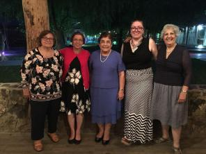 Nurses and nurse educators, Hermine Getzoyan, Naomi Poladian, Lucy Huckabay, Lena Akelian and Arpi Sarian.