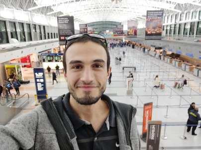 Mariano Góngora at Buenos Aires Airport
