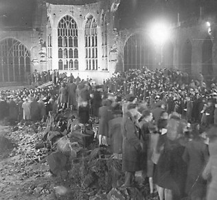 "The 1962 reconstruction of the destroyed Coventry Cathedral was the inspiration for Composer Benjamin Britten's ""War Requiem."""