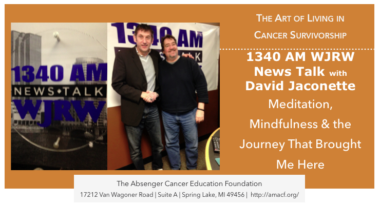 Dave Jaconette had me as a guest recently on News Talk WJRW 1340 AM