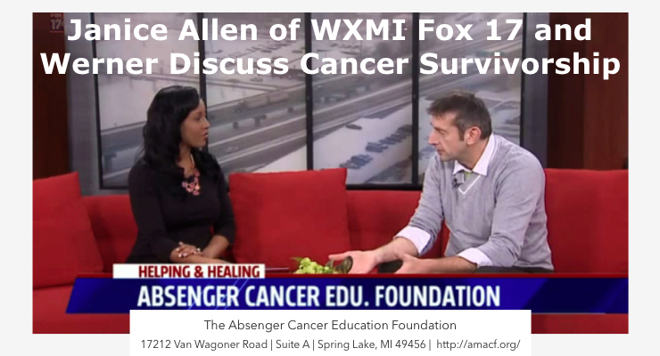 Janice Allen Interviews Werner About Cancer Survivorship Programs at ACEF on Fox 17 WXMI