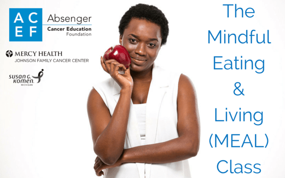Image of African American woman for ACEF mindful eating african american breast-cancer survivor