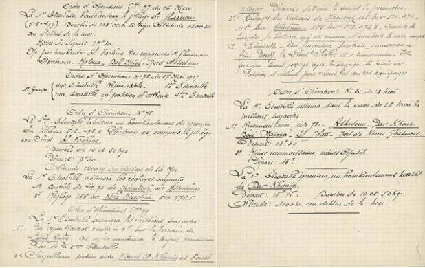 Ordre français d'opérations de bombardements