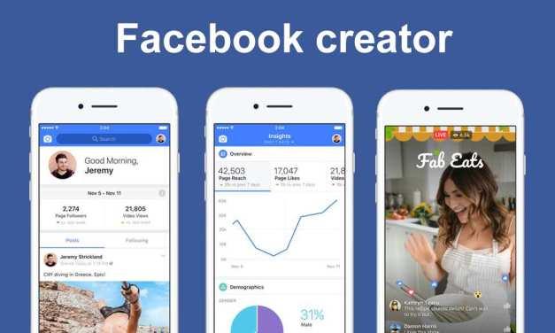 Facebook Creator : une application pour éditer des contenus vidéo