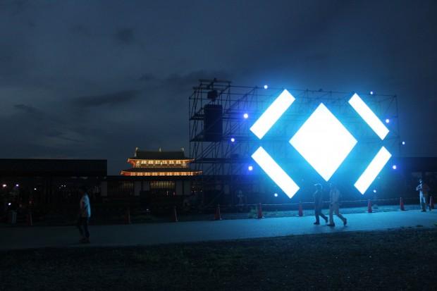 光の祭典 平城京にちなんだ現像的な映像と悠久の音楽を提供 第一次大極殿南門広場 北向き