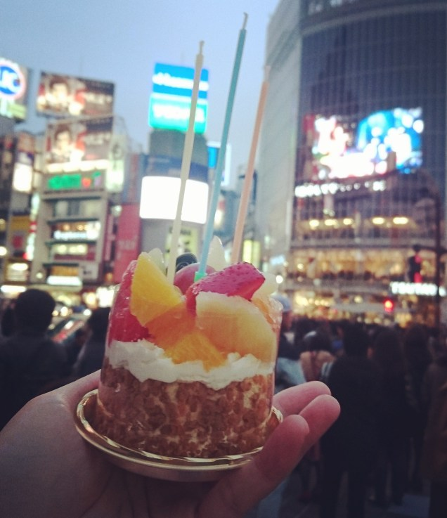 The cake might not hoLd a candLe against aLL the Shibuya Lights, but it Lit up my day aLL right.