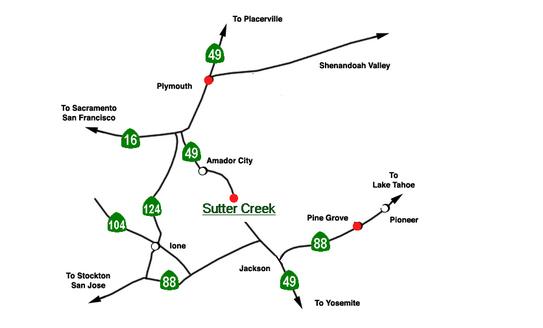 Amador Farmers Market Locations Map