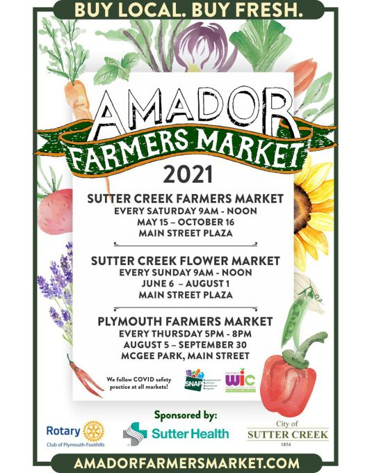 Amador Farmers Market Dates