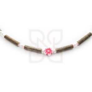 collier enfant noisetier rose