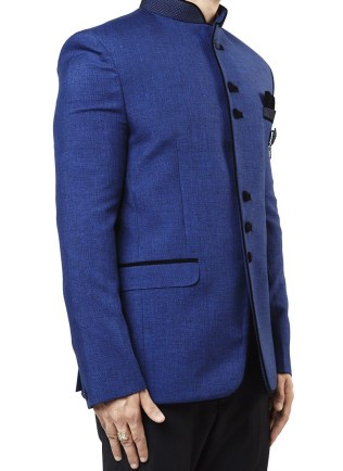 Cobalt Blue Jute Blazer 1