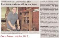 Ouest-France, octobre 2013