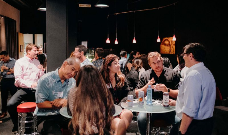 networking at event
