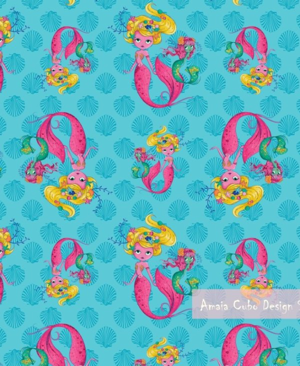 MERMAID PATTERN 4 - AMAIA CUBO DESIGN STUDIO