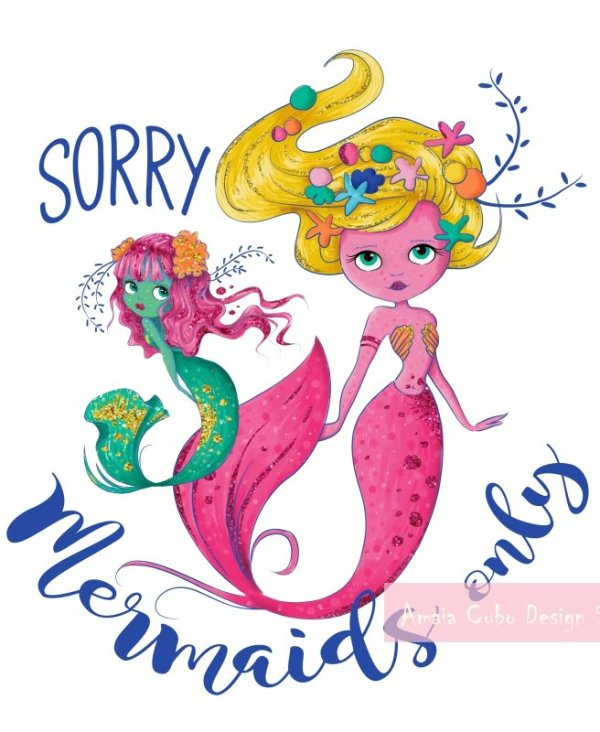 MERMAID CLIPART 6 - AMAIA CUBO DESIGN STUDIO