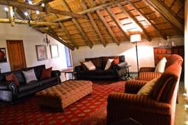 A lounge area at Inkungu Lodge