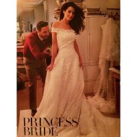 Amal Alamuddin  the wedding dress via Vogue Us