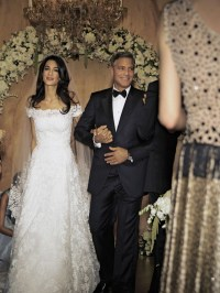Amal Alamuddins wedding dress  the Amal effect !  Amal