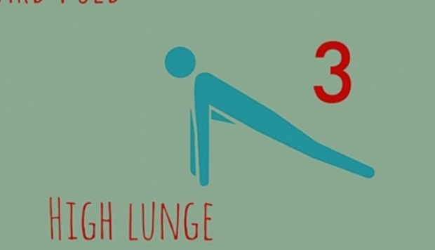 High Lunge  - AMALAwellness, Yoga and Meditation in Middlesbrough, Stockton and Teesside.