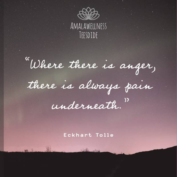 """""""Where there is anger, there is always pain underneath"""" - Eckhart Tolle Inner Peace Meditation Quotes"""