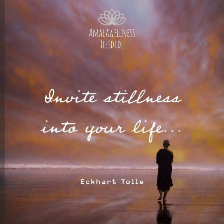 """""""Invite stillness into your life."""" - Eckhart Tolle"""