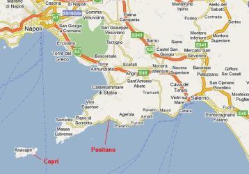 amalfi coast map showing italy surrounding maps areas