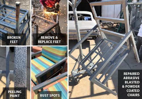 metal patio furniture repair