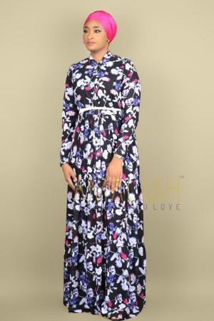 Gypsy Dress Black Floral mix (4)