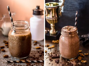 Healthy food and smoothies for sportists food photography