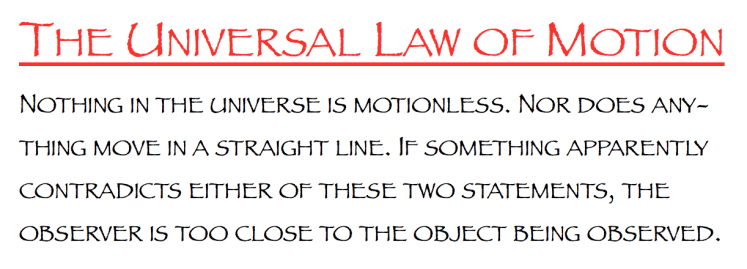 The Universal Law of Motion