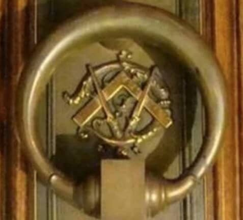 Pythagoras Lodge No. 41 door knocker upside down FINAL