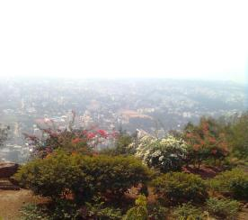 Mist over Vizac city- view from Kailashgiri Hills