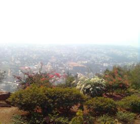 Mist over Vizac city- view from Kailashgiri Hills