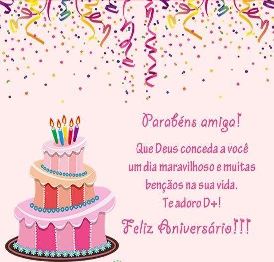 Parabéns amiga, feliz aniversário