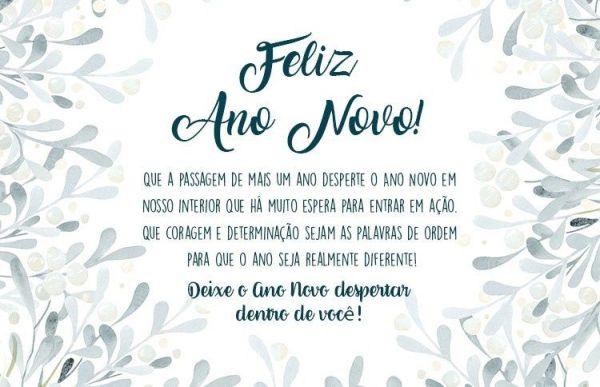 Feliz ano novo, desperte o novo ano de dentro de você