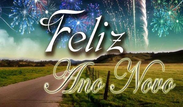 Feliz ano novo pela estrada