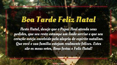 Boa tarde feliz natal a todos com muito carinho especial!