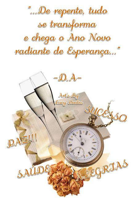 Feliz ano novo de esperança