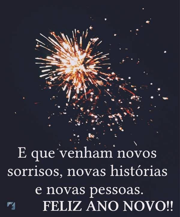 Feliz ano novo de sorrisos e novas histórias