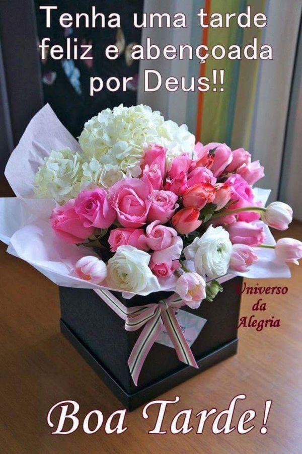 Boa tarde feliz e abençoada por Deus